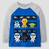 Star Wars Lucas® Toddler Boys' Cute SW Lines Long Sleeve T-Shirt - Gray Heather 3