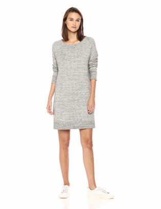 Daily Ritual Amazon Brand Women's Terry Cotton and Modal Dorito High-Low Sweatshirt Dress