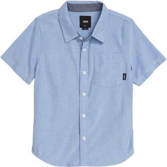 Vans Gibbon Short Sleeve Chambray Button-Up Shirt