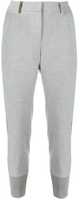 Peserico tapered cropped trousers