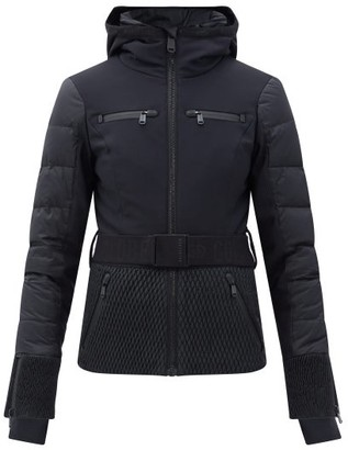 Goldbergh Stylish Belted Quilted Down Ski Jacket - Black