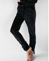 Express velour ruched ankle jogger pant