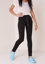 Missy Empire Lilith Black Ribbon Tie Joggers