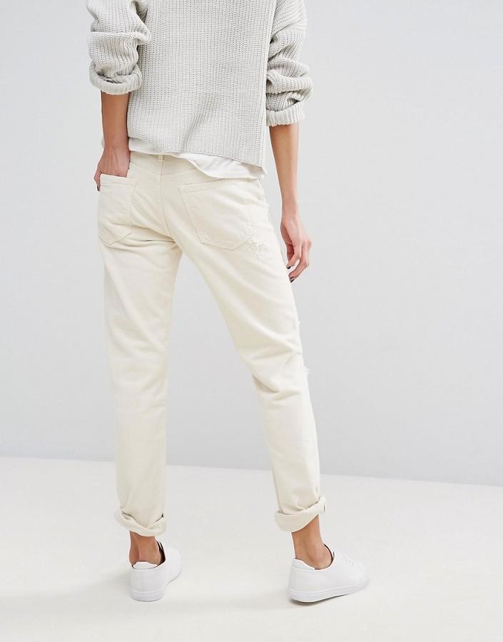 Polo Ralph Lauren Slim Boyfriend Fit Jeans With Rip & Repair