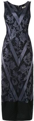 Comme Des Garçons Pre-Owned Floral Jacquard Fitted Dress