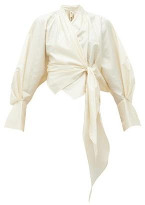 Petar Petrov Callula Silk Wrap Blouse - Womens - Ivory