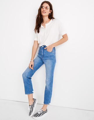 Madewell Petite Classic Straight Jeans in Novello Wash