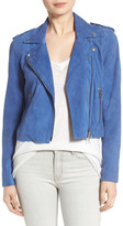 Pam & Gela Genuine Leather Suede Moto Jacket