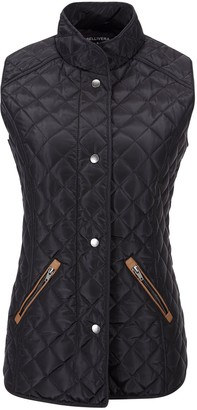 Bellivera Women's Stand Collar Lightweight Gilet Quilted Black391 Size Large