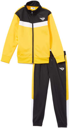 Pony Boys' Non-Denim Casual Jackets OLD - Old Gold & Black Stripe Tricot Zip-Front Jacket & Pants - Infant, Toddler & Boys