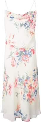Callipygian floral tie back dress