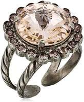 Sorrelli Satin Blush Haute Halo Adjustable Ring