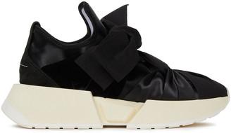 MM6 MAISON MARGIELA Knotted Velvet, Satin And Grosgrain Sneakers