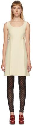 Gucci Beige Cady Crepe Wool Silk Dress