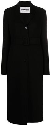 Jil Sander Single-Breasted Belted Coat