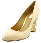 Lauren Ralph Lauren Viona Round Toe Leather Heels.
