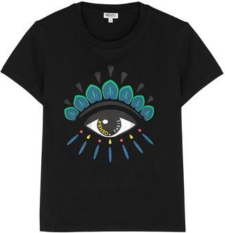 Kenzo Black Eye-print Cotton T-shirt