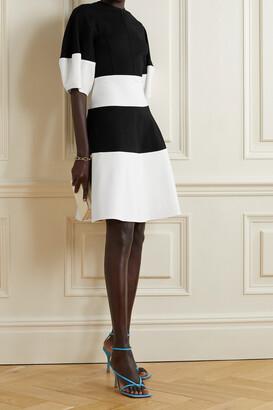 Lela Rose Striped Jersey Mini Dress - Black