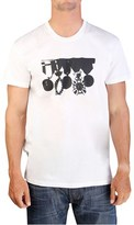 Christian Dior Men's Medals Graphic Cotton T-shirt White.