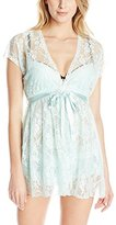 Cinema Etoile Women's Allie-Stretch Lace Molded Cup Babydoll Chemise