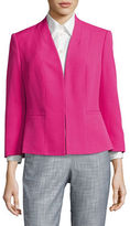 Kasper Suits Structured Collarless Jacket