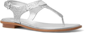 MICHAEL Michael Kors Glitter Logo Thong Sandals