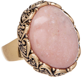 Barse Pink Opal & Bronze Statement Ring