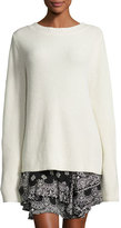 A.L.C. Markell Ribbed Wool & Cashmere Sweater, White