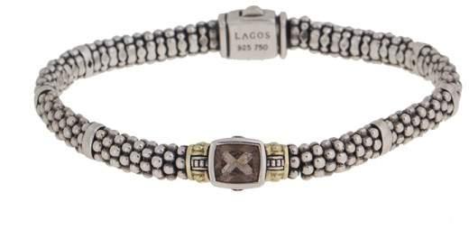 Lagos Caviar 18k Yellow Gold and Sterling Silver Quartz Bracelet