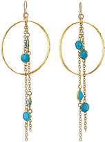 Devon Leigh Blue Chalcedony Hoop Earrings