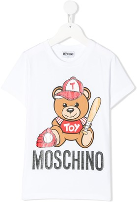 MOSCHINO BAMBINO baseball bear T-shirt