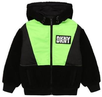 DKNY Hooded Logo Jacket (6-16 Years)