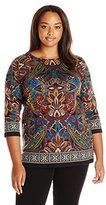 Rafaella Women's Plus Size Autumnal Paisley Tunic