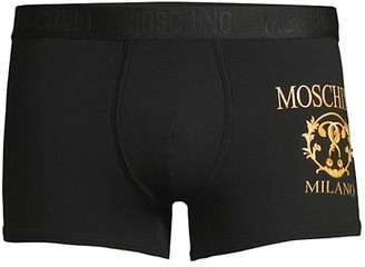 Moschino Logo Embroidery Boxer Briefs