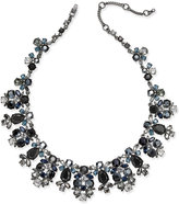 Givenchy Hematite-Tone Crystal Collar Necklace