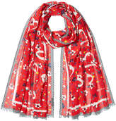 Marc Jacobs Printed Scarf with Silk