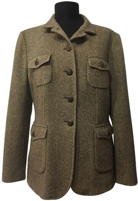 Marella Beige Wool Jacket for Women