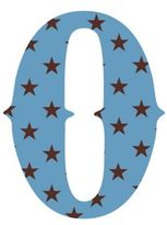 "Wall Candy Arts WallCandy Arts WallCandy Luv Letters Stars Letter ""O"" Wall Decal in Blue"