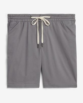 """Express 8"""" Woven Drawstring Shorts"""