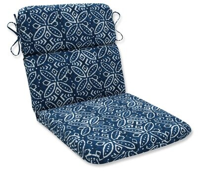 Charlton Home Crichton Indoor Outdoor Dining Chair Cushion Fabric Indigo Shopstyle