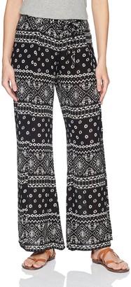 En Creme Women's Tribal Print Wide Leg Pants