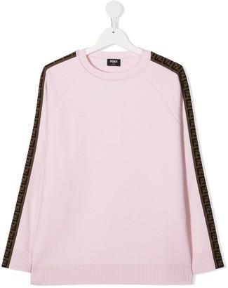 Fendi Kids TEEN FF motif detail jumper