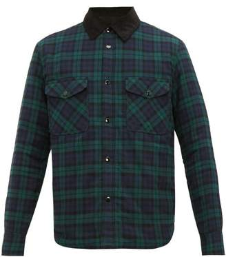 Rag & Bone Jack Quilted Checked Flannel Overshirt - Mens - Black Multi