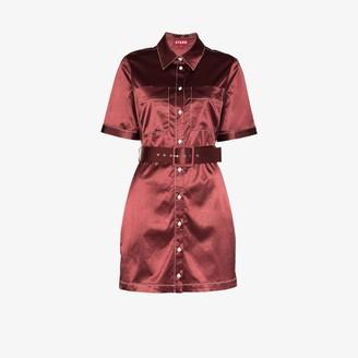 STAUD Bentley belted shirt dress