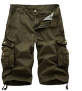 AOYOG AOQ Mens Cotton Cargo Shorts Loose Fit