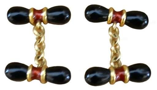 Deakin & Francis 18K Yellow Gold Cufflinks