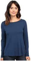 Lilla P Pima Modal Long Sleeve Pleat Back Top
