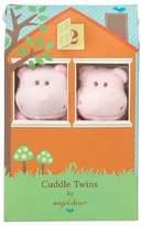Angel Dear Cuddle Twin Set, Pink Hippo by