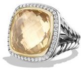 David Yurman Albion Ring with Champagne Citrine, Diamonds and 18K Gold