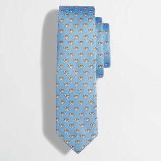 J.Crew Embroidered silk tie